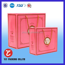 2015 factory custom paper bag kraft paper gift shopping handbag for shoes