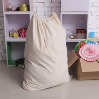 Large Size Blank Cotton Drawstring Laundry Bag Eco -friendly 100% Natural Cotton Fabric Free Sample
