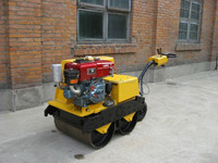 High Quality 1 Ton 6KW Diesel Engine Hand Compact Road Roller For Narrow Sites Use