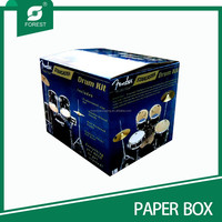 CUSTOM PRINTED CORRUGATED CARTON BOX FOR MUSICAL INSTRUMENT/DRUM KIT