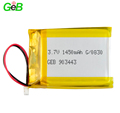 Rechargeable li-polymer battery 903443 3.7v 1450mah lithium ion lipo battery for portable scanner