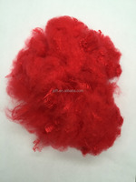 3D*51 red recycled polyester staple fiber