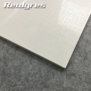 Anti Slip White Color Bright Surface Rustic Porcelain Flooring Tiles