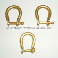 Pin Brass Shackle Bell Clapper Brass Shackle Nautical shackle