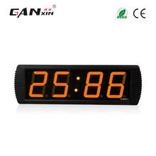 "[GANXIN]4"" Ultronic Weather Station Clock Large Screen Led Clock with Multi Color for Home Use"