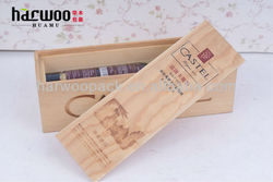 Fashion Branding Pine Wood Wine Carrier with Sliding Lid