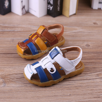KS20092B New style genuine leather upper tpr sole sandal for baby
