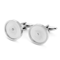 Stainless Steel Cufflinks Blank Diy Cufflinks