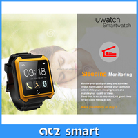 2015 popular outdoor sports functional smart bluetooth watch phone in pedometer, sleep monitoring, compass, stopwatch, time sync