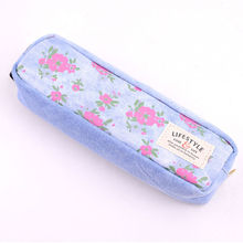LANGUO fashion jean pencil case/ high school stationery for wholesale OEM model:LGHN-2559