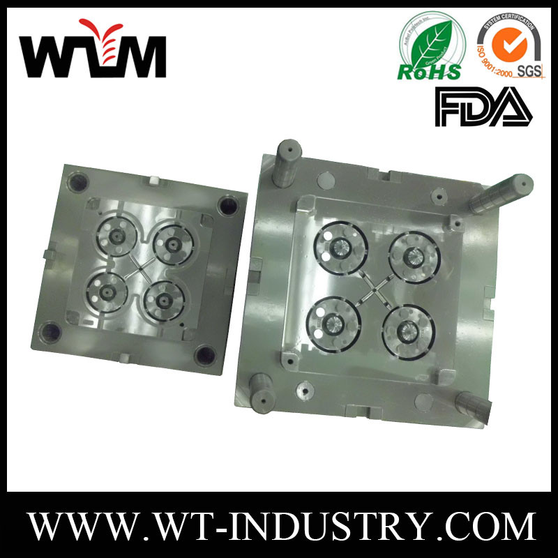 China cheap plastic injection mold/plastic injection tool from China, 4 cavities mold for car