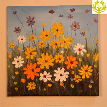 Colorful flower oil painting on canvas