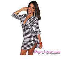 www sexe images com Black White Houndstooth pakistani long shirt dresses