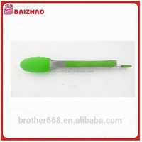 High temperature resistance 9/12inch silicone food tongs