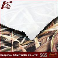 100% Polyester Brushed Tricot Outdoor Fabric for Hunting Coat