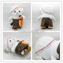 HI CE vivid snowman plush toy with clothes for kids,wonderful stuffed doll for christmas with high quality