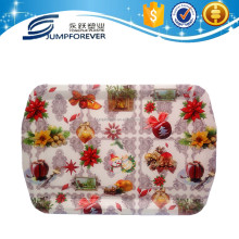Rectangular christmas decor household item charger pp tray,fruit/vegetable tray