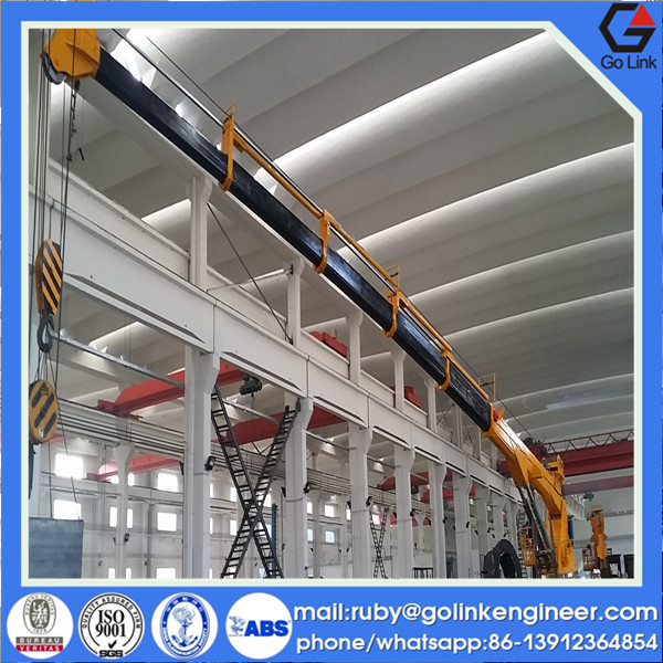 quality assurance supplier hydraulic/electric telescopic knuckle boom crane used for deck/ship/platform/barge/boat