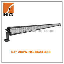 Double row 24w 36w 60w 120w 180w 240w 288w off road led light bar for car accessory HG-8624-288