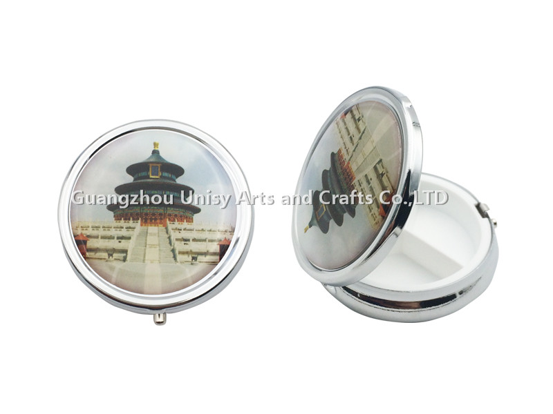 Hot sale china Beijing 3 case metal pill box with personality design /Face design pill box /Medicine box wholesale