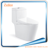 ZD-8886 Bathroom sanitary ware siphonic jet one piece toilet