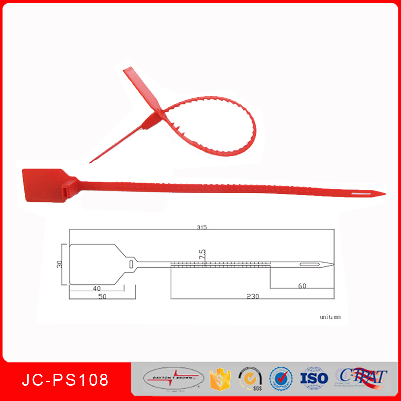 nissan ud truck parts CE approved security plastic seal, security seal plastic custom design JCPS-108