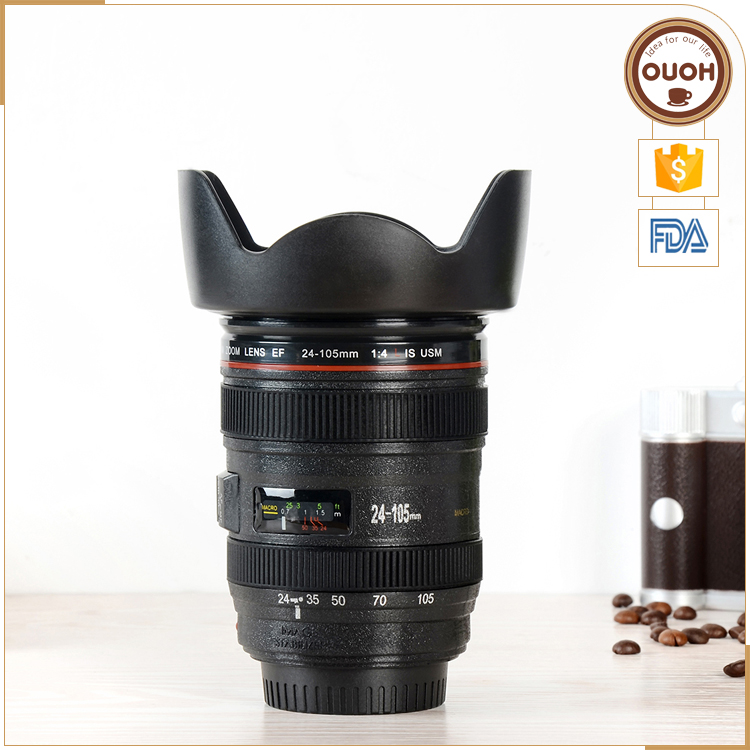 shocked your friends wholesale creative camera lens beer mug plastic