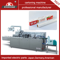 cling film box packaging machine with hot melt glue