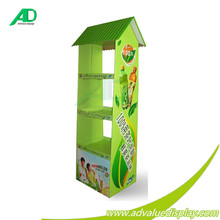 2015 Wholesale Fashion Design Makeup Mac Cardboard Display Stand for Cosmetic Promotion