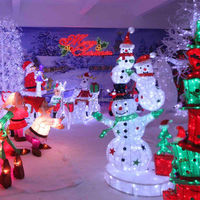Large snowman decorations for outdoor use