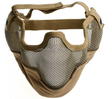 Airsoft Paintball CS Mask Tactical Wire Mesh Half Face Ear Skull Mask Party Masks