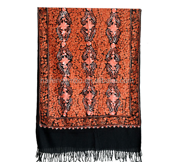 Muslim embroidery shawls stole long shawl
