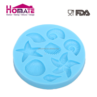 Marine Organisms Animal Conch Shells Starfish Ocean Series Silicone Cake Mold