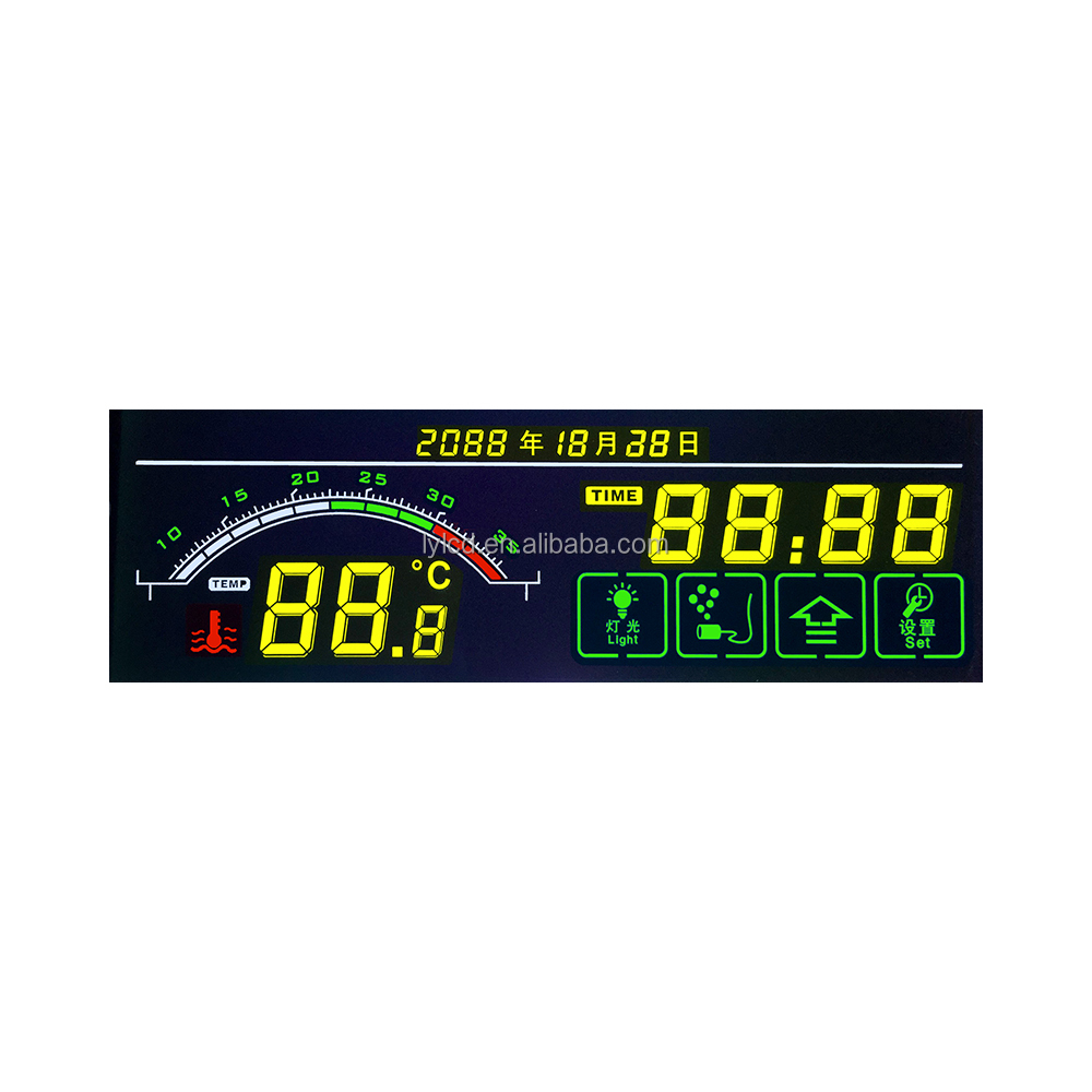 custom tn lcd circle lcd built in cpu lcd display digital numeric display for intelligent aquarium display