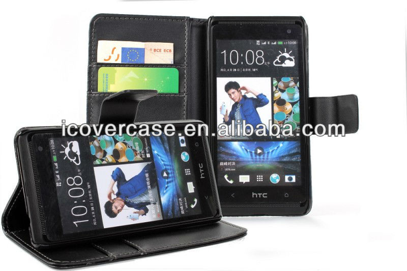 Pu wallet Cover case For HTC Desire 600,factory direct supply!