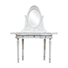 Aiko Dressing Table with Oval Mirror