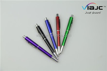 2016 new press ball point pen with metal clip