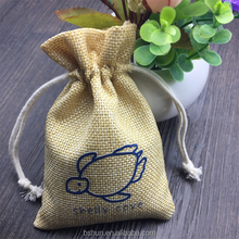 Jute Drawstring Favor Bag, Thank You Small Gift Bag