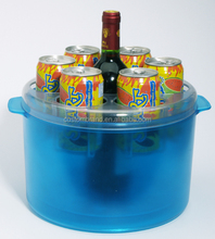 Custom plastic material vodka ice buckets for party