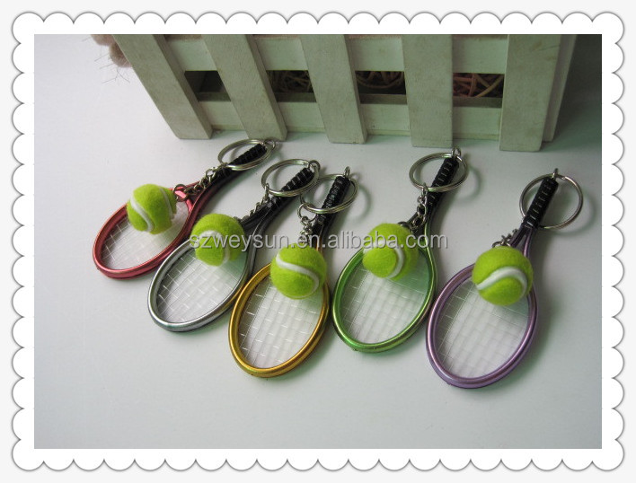 handmake Tennis and tennis rackets car bike key ring keys chain keychains souvenir gift key chain
