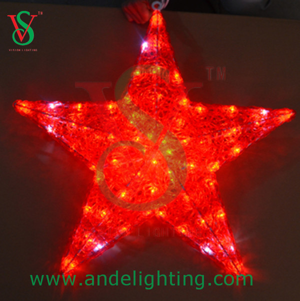 Acrylic 3D LED star motif light