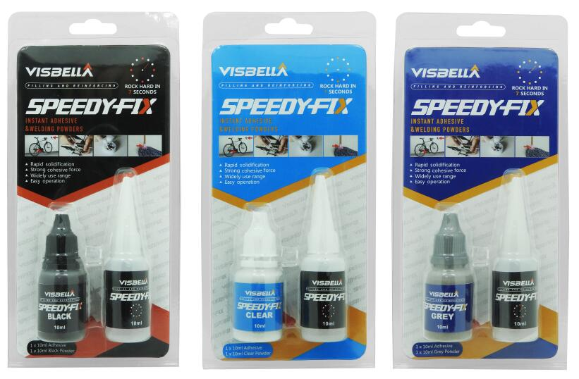 Visbella 20ml Blister Card Instant Super Glue Powder Adhesive