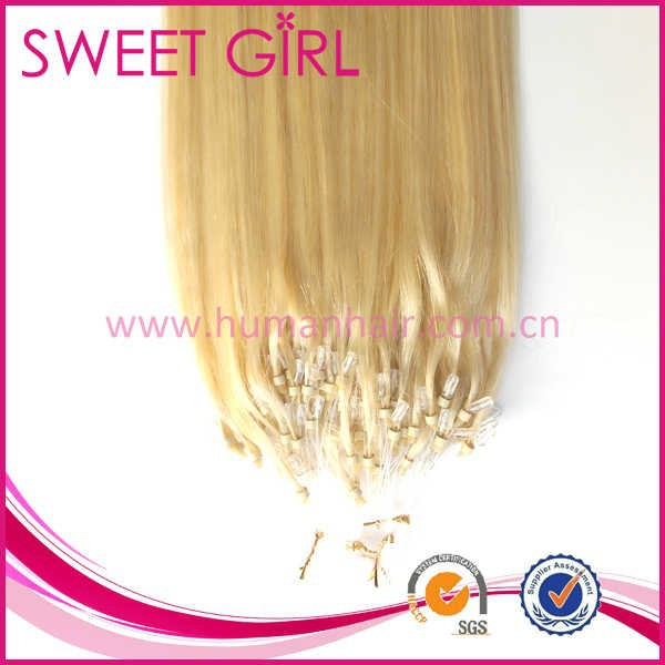 Chinese micro ring remy hair extension with color 60