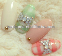 2014 New japanese fashional decorated art nail tips