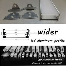 wider LED Linear Light surface mounted profile with aluminum profile accessories