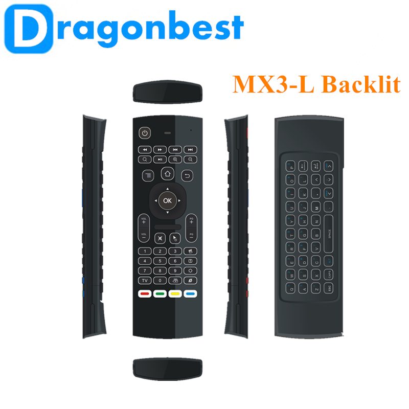 2017 high quality MX3-L backlit air mouse mini keyboard With Bottom Price Somatosensory remote control
