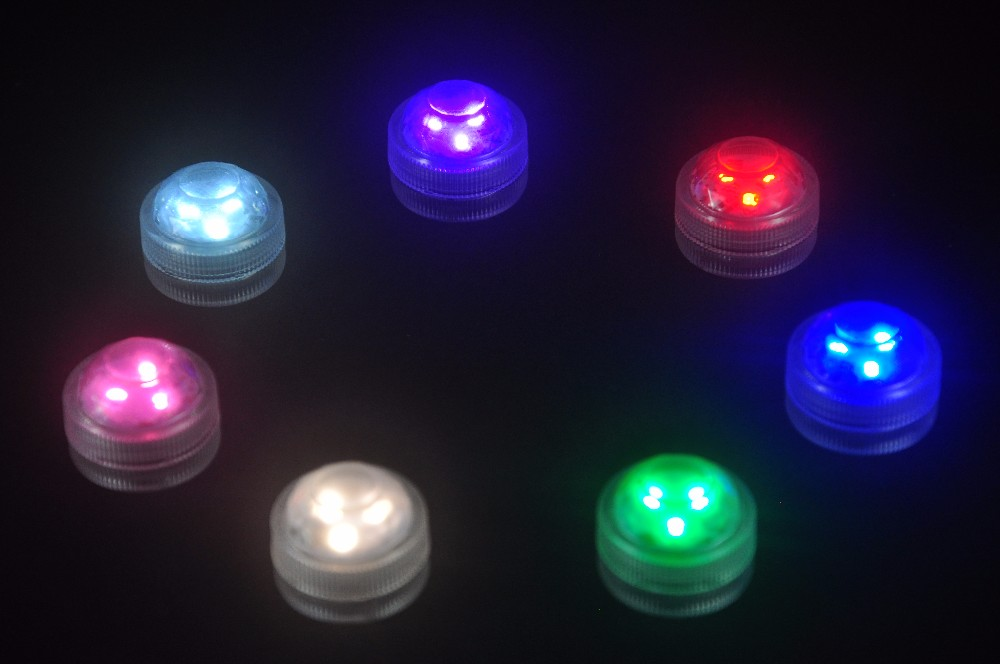 3 LEd Wedding Decoration Single Color Waterproof Submersible Led Tea Light Mini Party Light With Battery For Halloween Christmas