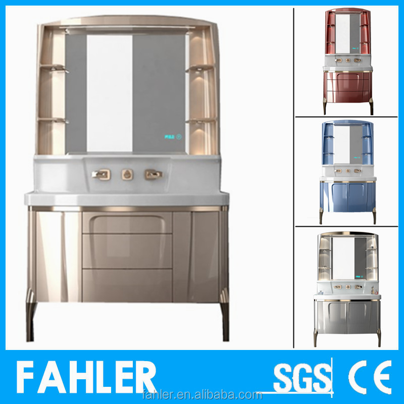 Hot sale countertop bathroom decoration used bathroom vanity <strong>cabinets</strong>