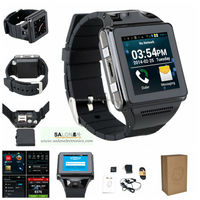 Free shipping android 4.0 smart watch phone MTK6577 dual core support wifi,bluetooth,android hand watch mobile phone