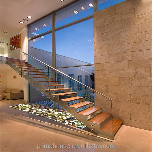 construction building home with floating staircase/stairs designs